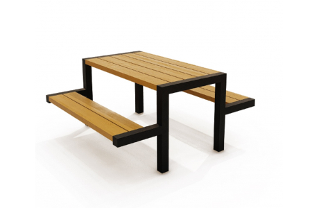 Стол с лавками Т-004